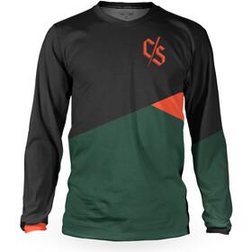 Loose Riders C/S Heritage Longsleeve Jersey Heren, zwart/groen